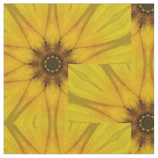 sunflower kaleidoscope fabric