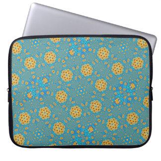 Sunflower kaleidoscope laptop sleeve