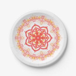 Sunflower kaleidoscope paper plate