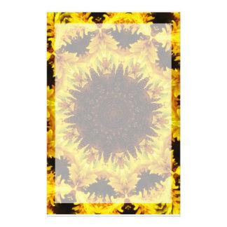 Sunflower Kaleidoscope Stationary Stationery