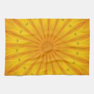 Sunflower Kaleidoscope Tea Towel