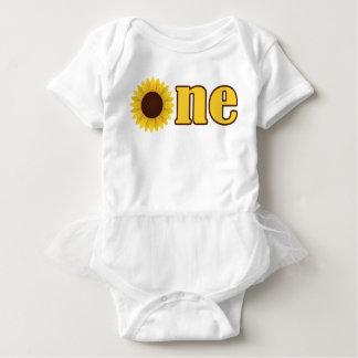 Sunflower Kansas First Birthday ONE Tutu Bodysuit
