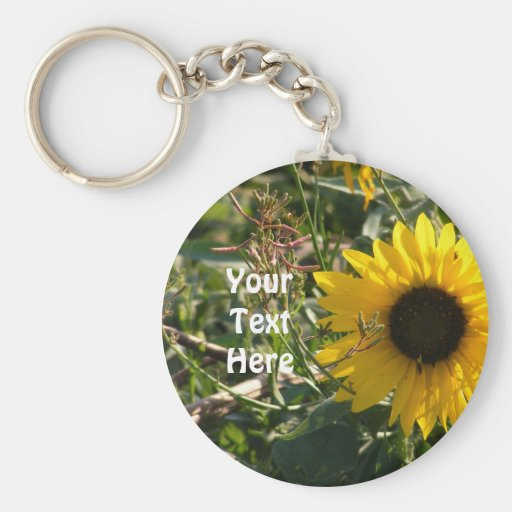 Sunflower Keyring Keychain