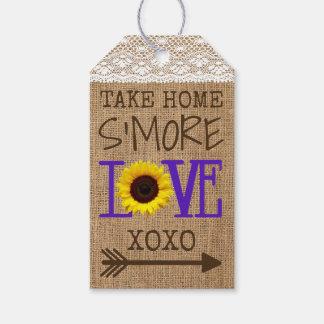 Sunflower Lace Burlap Purple Take Home S'More Love