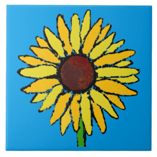sunflower large square tile