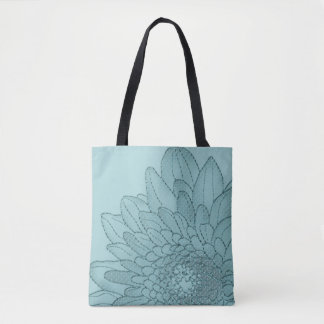 Sunflower - Large Teal Graphic | Tote Bag