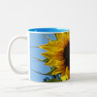 Sunflower - Light Blue Two-Tone Mug