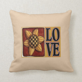 Sunflower love country throw pillow