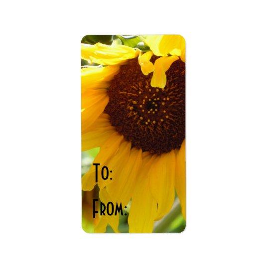 Sunflower Love Label