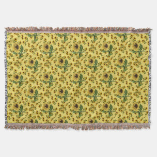 Sunflower Love Throw Blanket