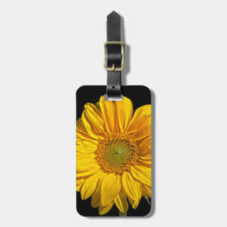 Sunflower Luggage Tag with Customisable Details