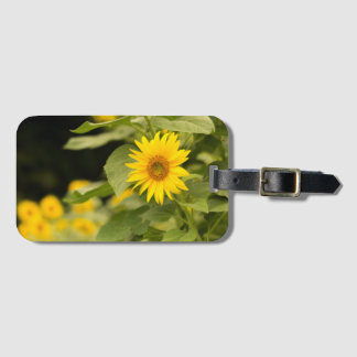 Sunflower Luggage Tag (with name)