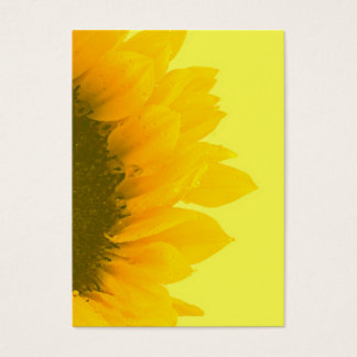 Sunflower Macro Photo Business Card