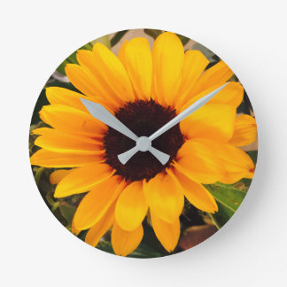 Sunflower Magnificence 4Natalie Round Clock