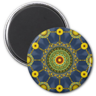 Sunflower Mandala Array Magnet