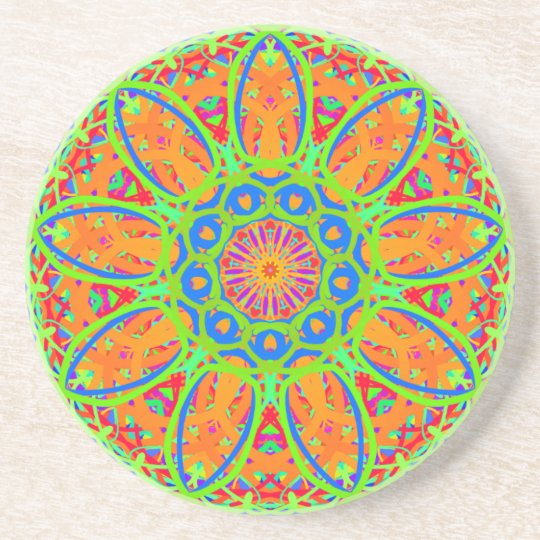 Sunflower Mandala Design Coaster