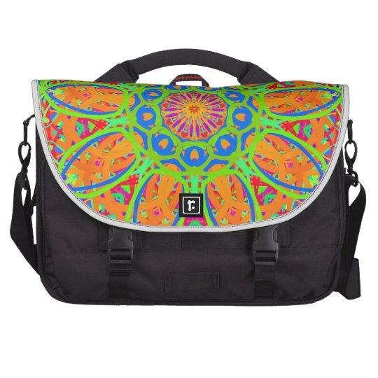 Sunflower Mandala Design Laptop Shoulder Bag