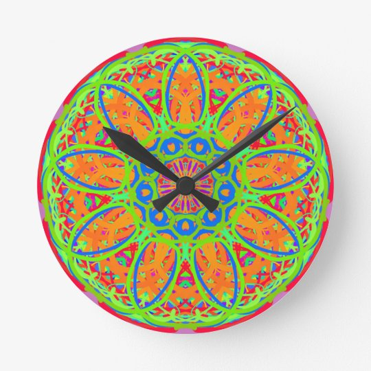 Sunflower Mandala Design Wall Clock