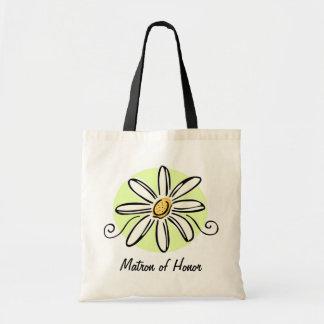 Sunflower Matron of Honor Tote Bag