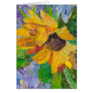 Sunflower mixed media collage card
