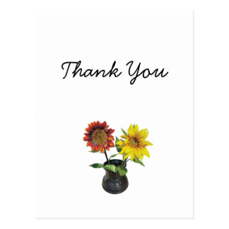 Sunflower Modern Simple Elegant Wedding Ideas Postcard