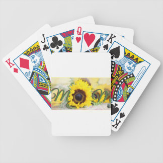 Sunflower Mom Bicycle Playing Cards