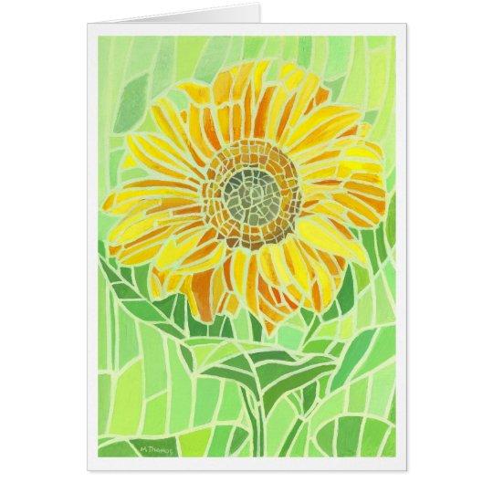 Sunflower Mosaic Greetings Card