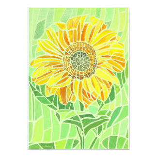 Sunflower Mosaic Invitation Card