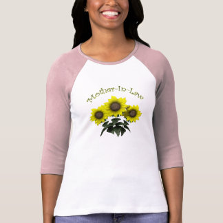 Sunflower Mother-In-Law Mothers Day Gifts Tshirt