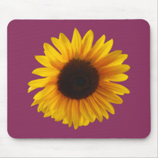 Sunflower Mouse Pad (Gold and Raspberry)