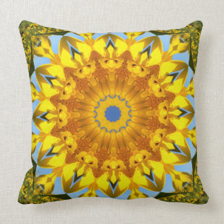 Sunflower Nature, Flower-Mandala (Blumen-Mandala) Cushion