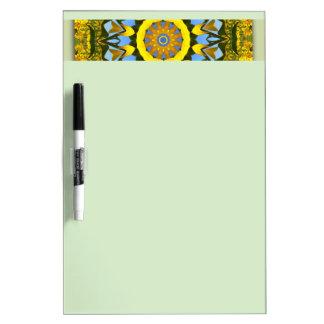 Sunflower Nature, Flower-Mandala (Blumen-Mandala) Dry Erase Board