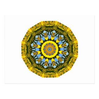 Sunflower Nature, Flower-Mandala (Blumen-Mandala) Postcard