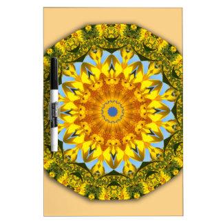 Sunflower Nature, Flower-Mandala Dry Erase Boards