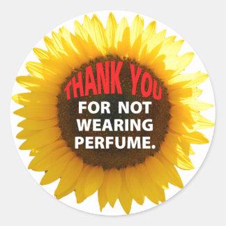 Sunflower No Perfume Classic Round Sticker