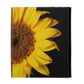 Sunflower on Black - Customized Template iPad Cases