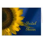 Sunflower on Blue Bridal Shower Invitation Card