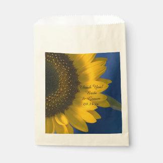 Sunflower on Blue Wedding Thank You Favour Bag