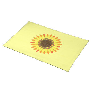 Sunflower On Deep yellow Background Placemat