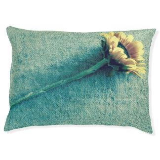 Sunflower on Denim Pet Bed