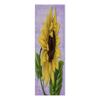 Sunflower On Sheet Music Bookmark Pack Of Skinny Business Cards