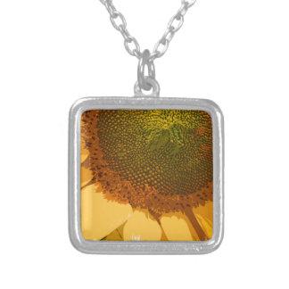 Sunflower painted pendants