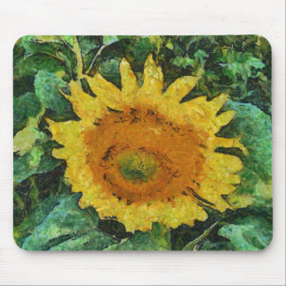 Sunflower painting mousepad