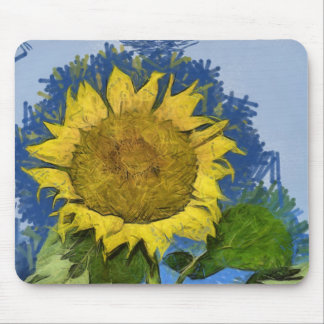 Sunflower painting mouse pads