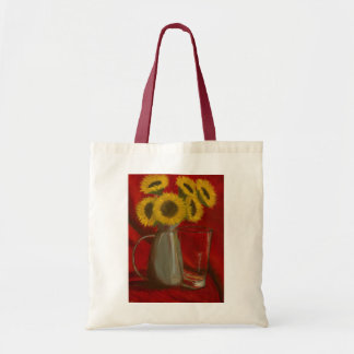 Sunflower Painting on Tote Budget Tote Bag