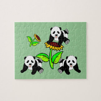 Sunflower Pandas Jigsaw Puzzle