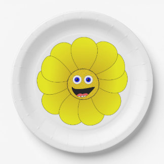 Sunflower Paper Plate