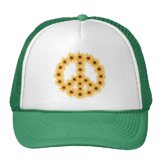 Sunflower Peace Sign hats by CherylsArt