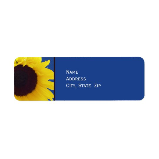 Sunflower Personalised Return Address Label