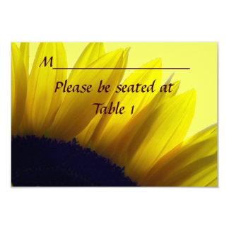 Sunflower Personalised Wedding Engagement Place Card